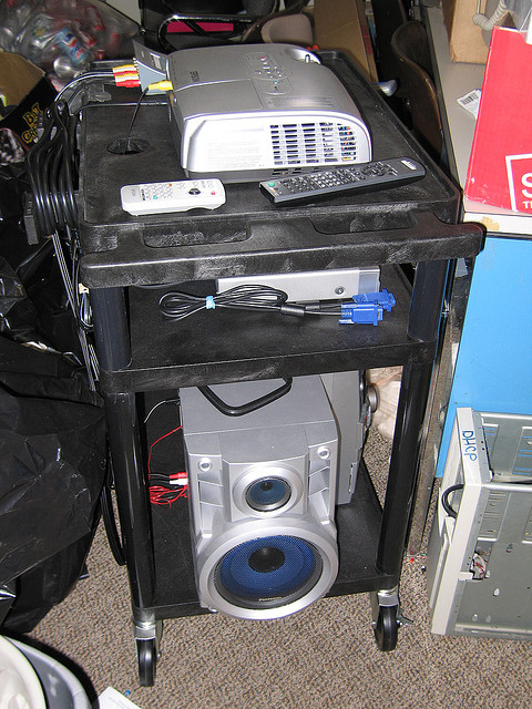 The projector cart