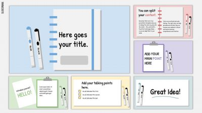 Ogawa Free Template for School Assignments using Slides.