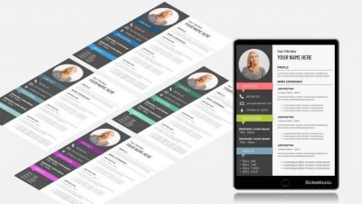 Resume Three Free Template for Google Slides or PowerPoint