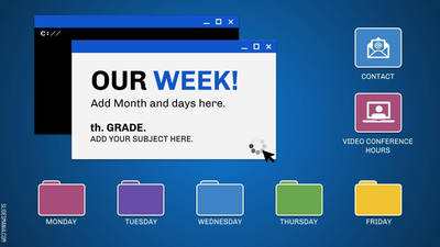 Weekly Planner for Online Lessons II · SlidesMania