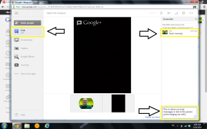 Google Hangout's text-based chat