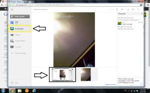 Google Hangout screenshare