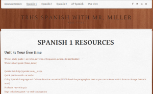 Weebly Spanish site