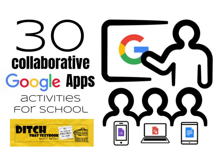 30 collaborative google apps activities for schools