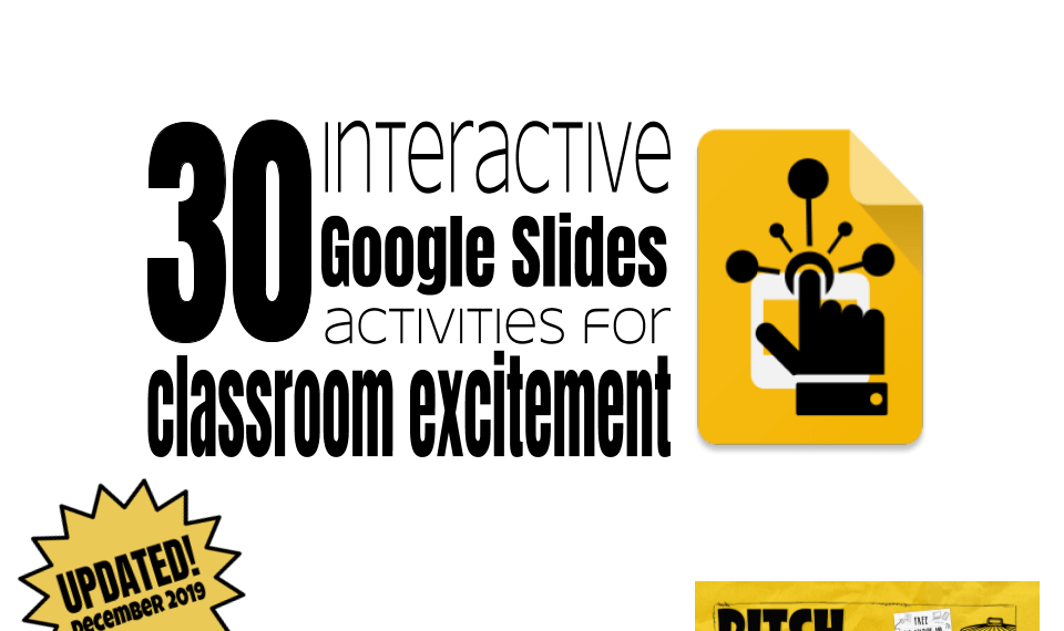 30 google slides activities for classroom excitement