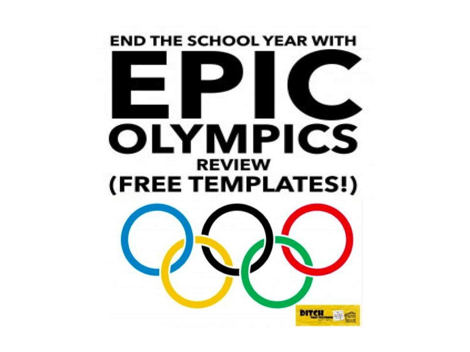 End the school year with Epic Review Olympics (free templates!)