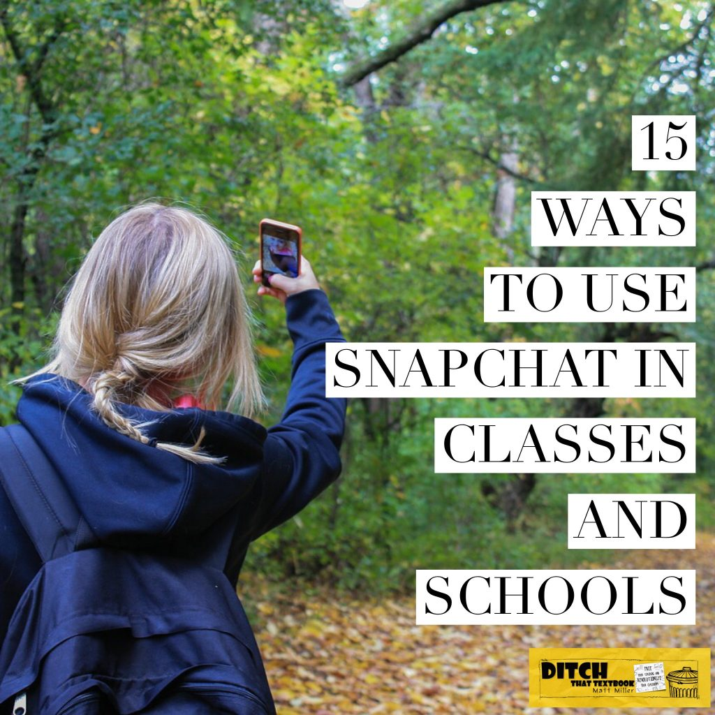 Classes, schools and districts can use Snapchat to engage and connect with students and families safely. Here are some ideas. (Public domain image via Pixabay.com / Luis Wilker Perelo / CCo)
