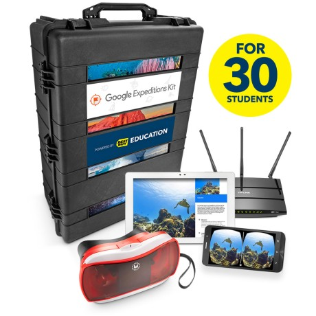 You don't need to buy these $10,000 kits to get Google Cardboard in your classroom. (Image via BestBuy)