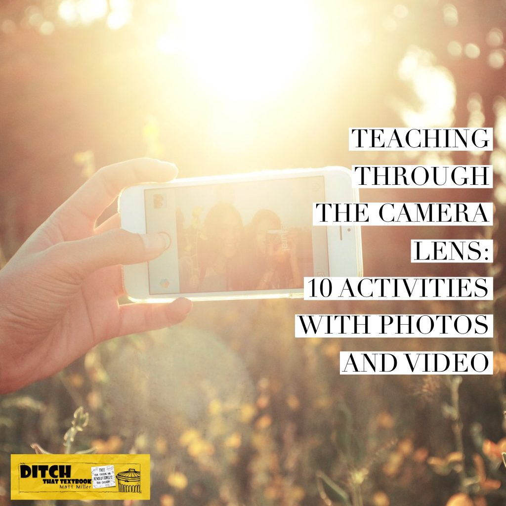 So many people carry cameras with them everywhere they go -- in their smart phones. Here are activities for the classroom that can harness that power. (Public domain image via Pixabay.com)