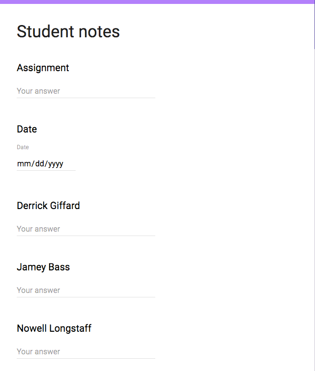 student notes screenshot