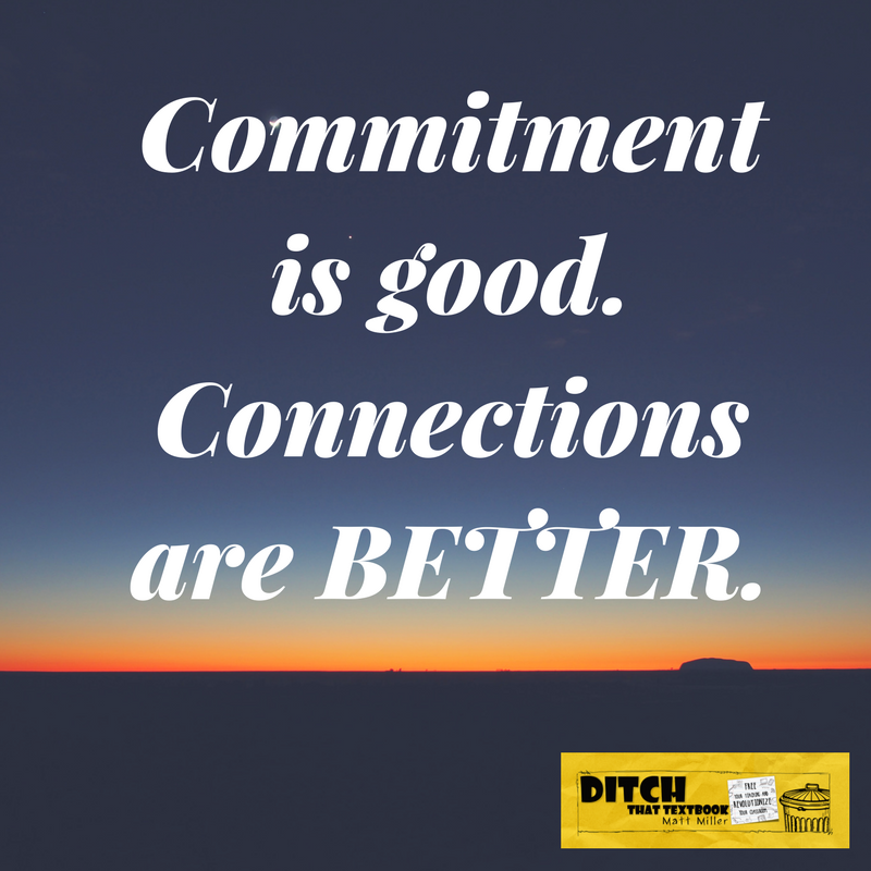 We can go far when we're committed, but our limitations stop us. We're unstoppable when we're connected. (Public domain image via Canva)