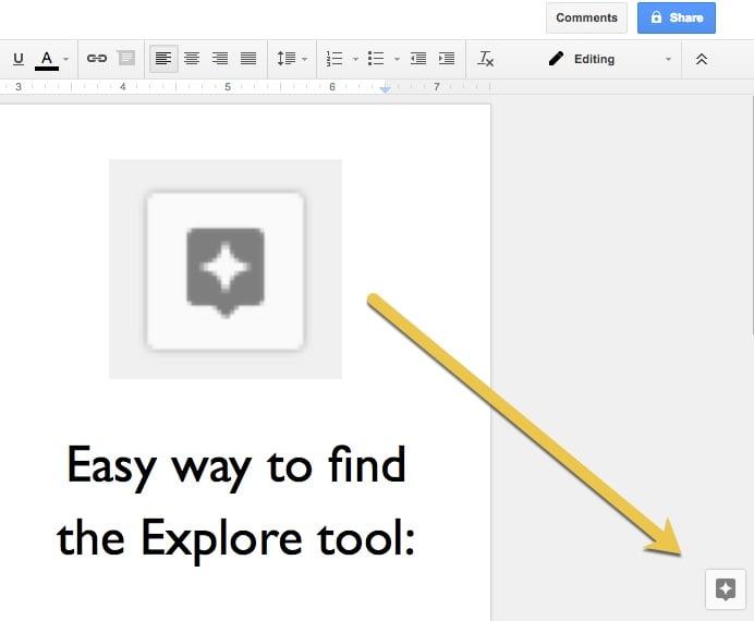 explore tool button