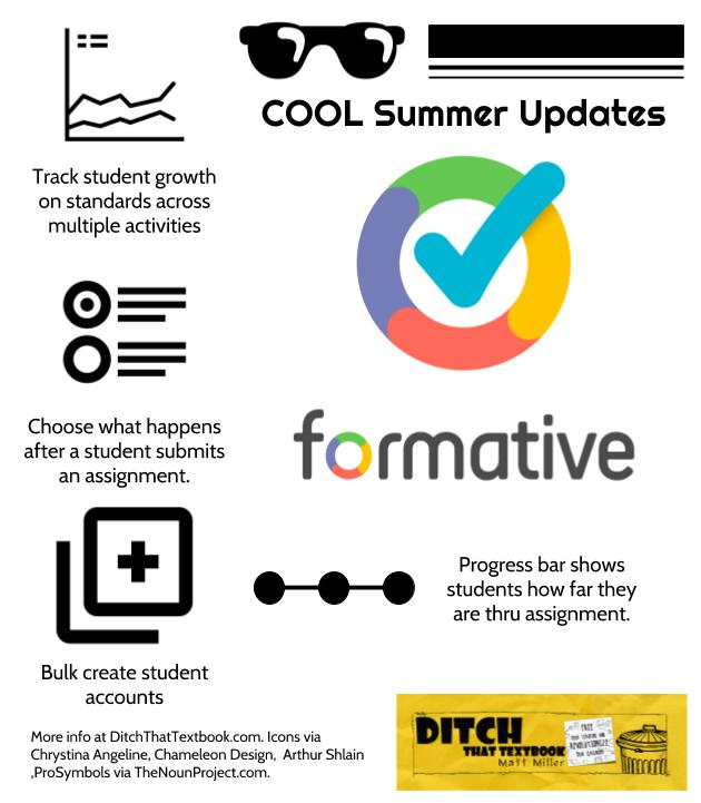 cool summer formative updates