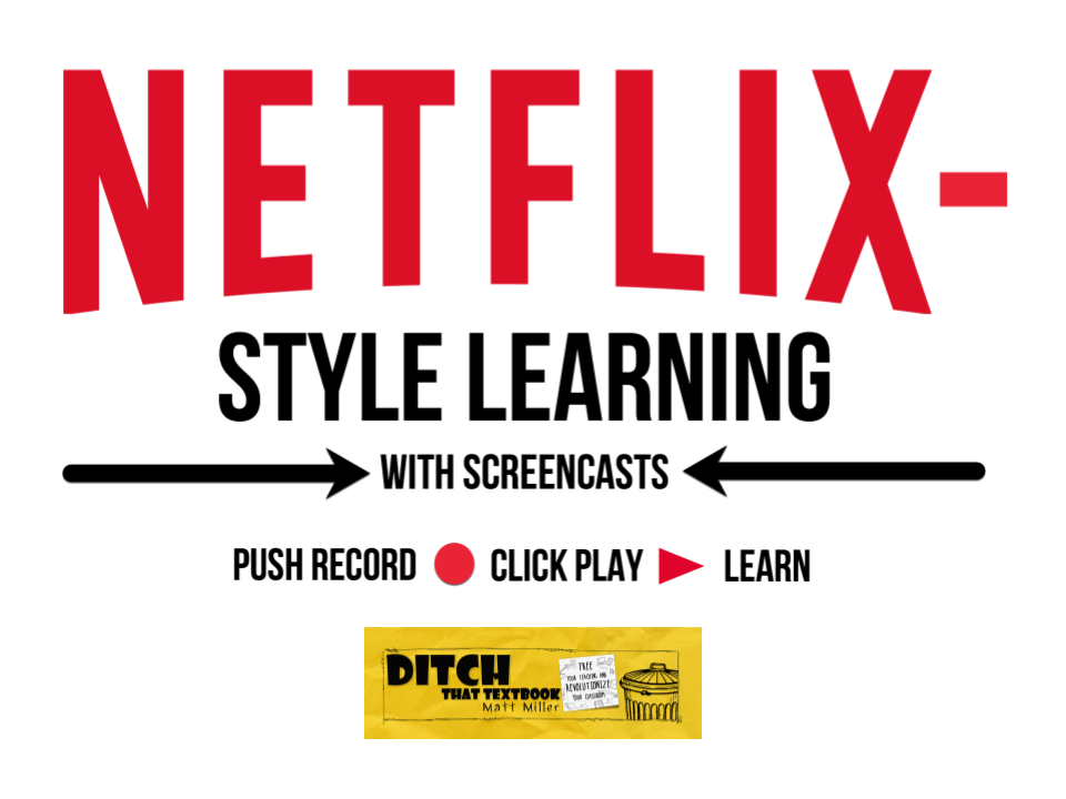 Create Netflix Style Learning With Screencasts Ditch That Textbook