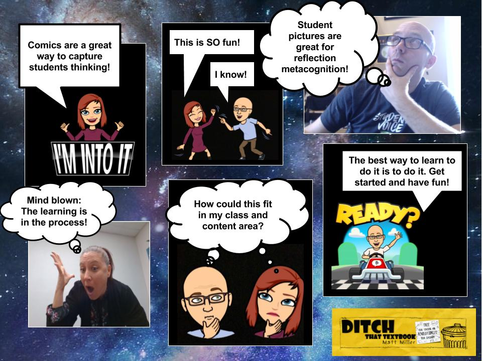 Google drawings comic example