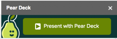 present with peardeck button