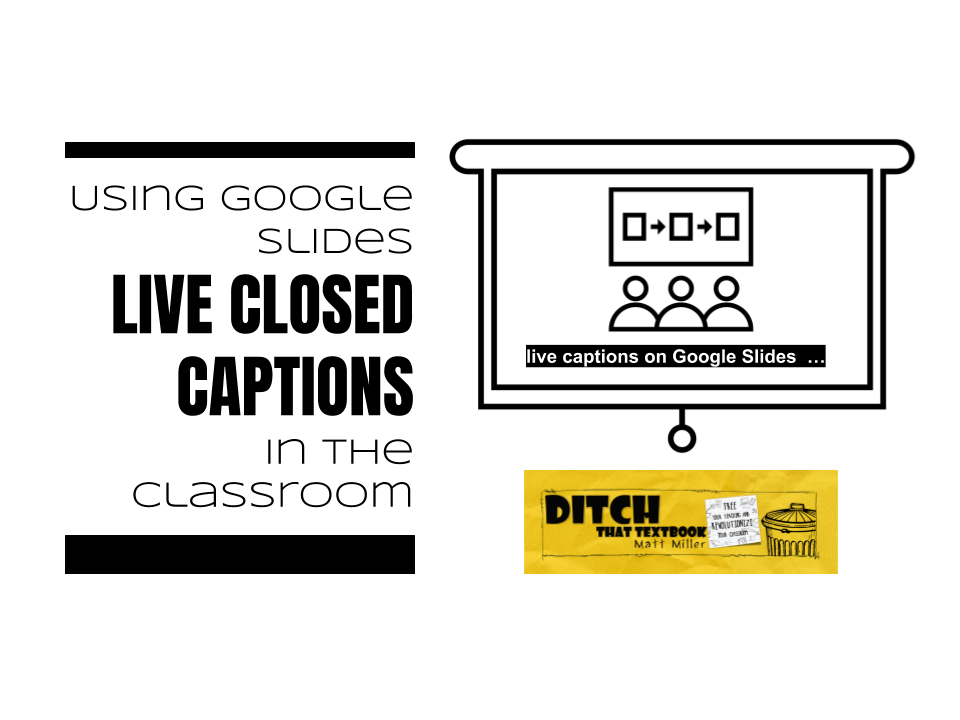 Image result for closed captioning on google classroom