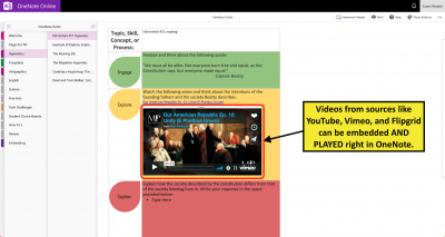 HyperDoc in OneNote examples courtesy of Meredith Townsend @Mer_Townsend.