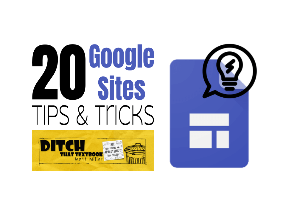 20 Google Sites Tips And Tricks Ditch That Textbook