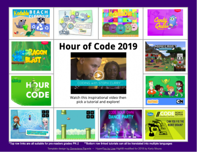 Hour of Code Choice Board