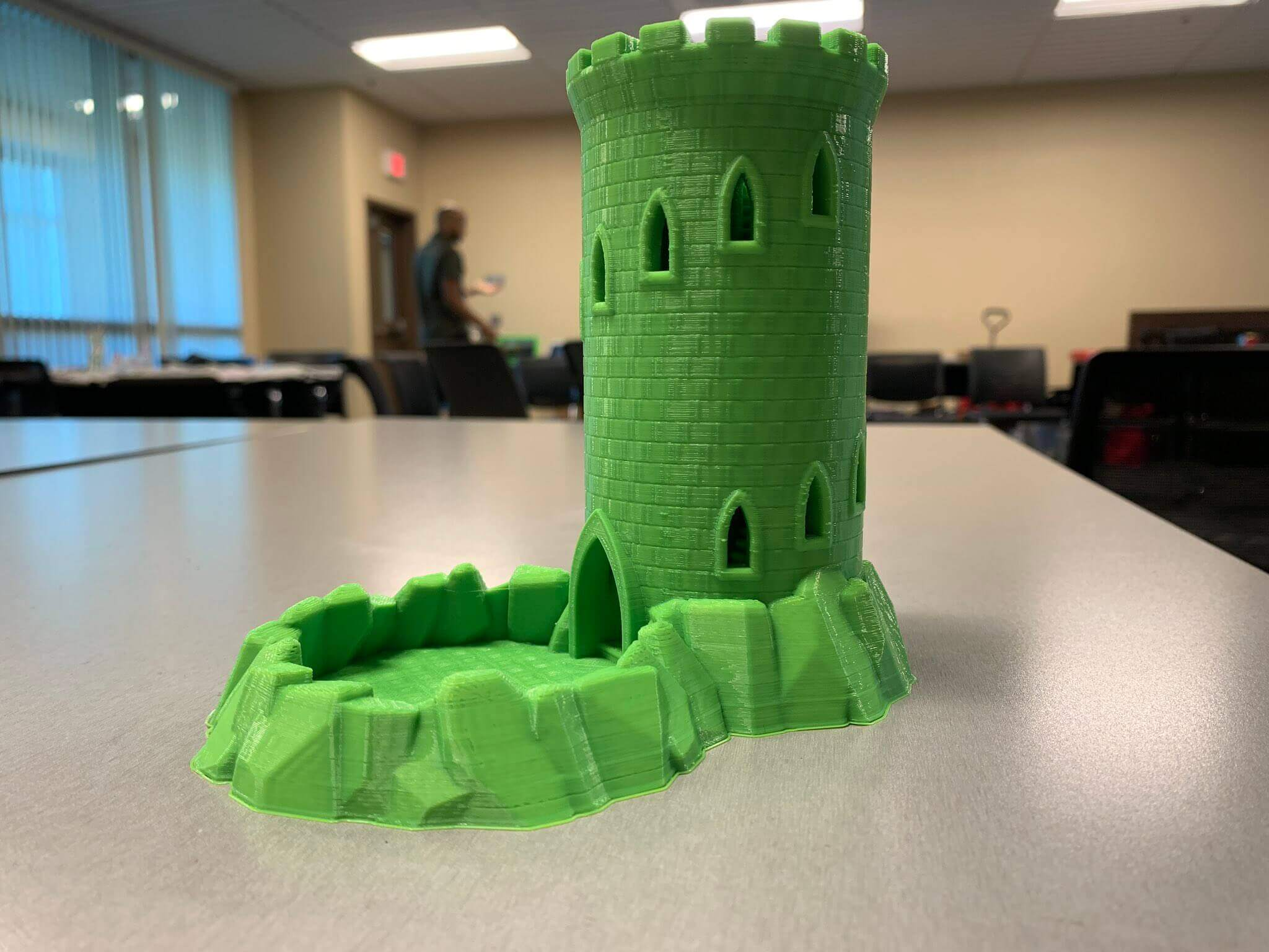 Students create architecture with 3D printers.
