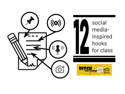 12 social media inspired hooks for class