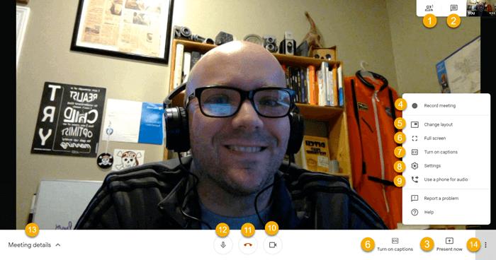 Google Meet during a call