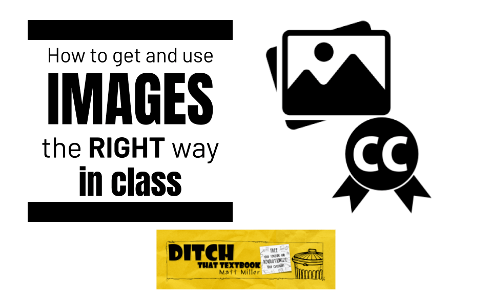 How to get and use free images the RIGHT way in class