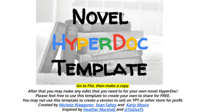 Novel HyperDoc Template