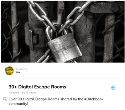 30+ Digital escape rooms
