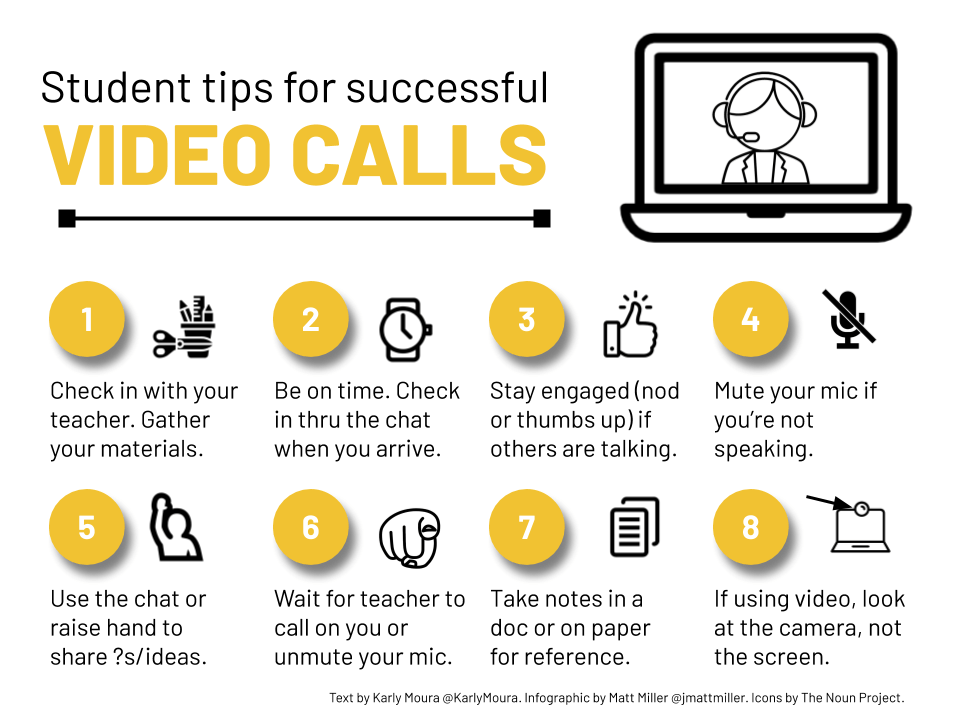 Student tips for successful video calls