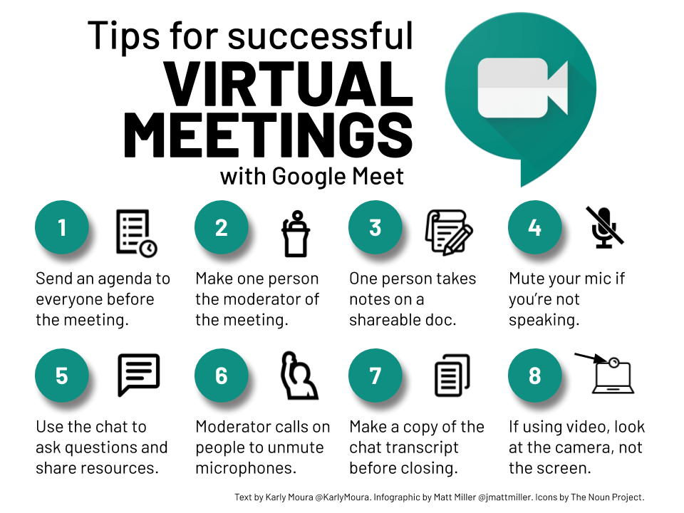 Tips for successful virtual meetings with Google Meet