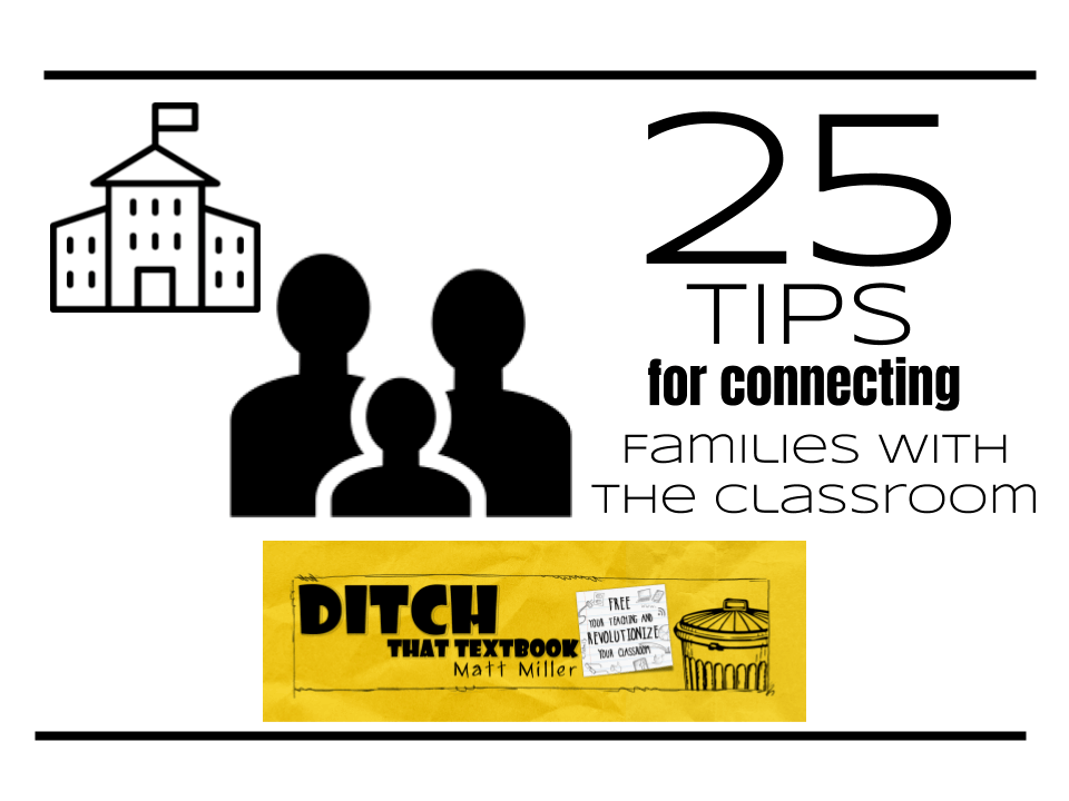 25 tips for connecting families with the classroom