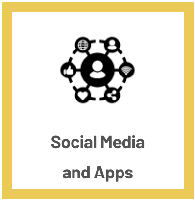 Social media and apps icon