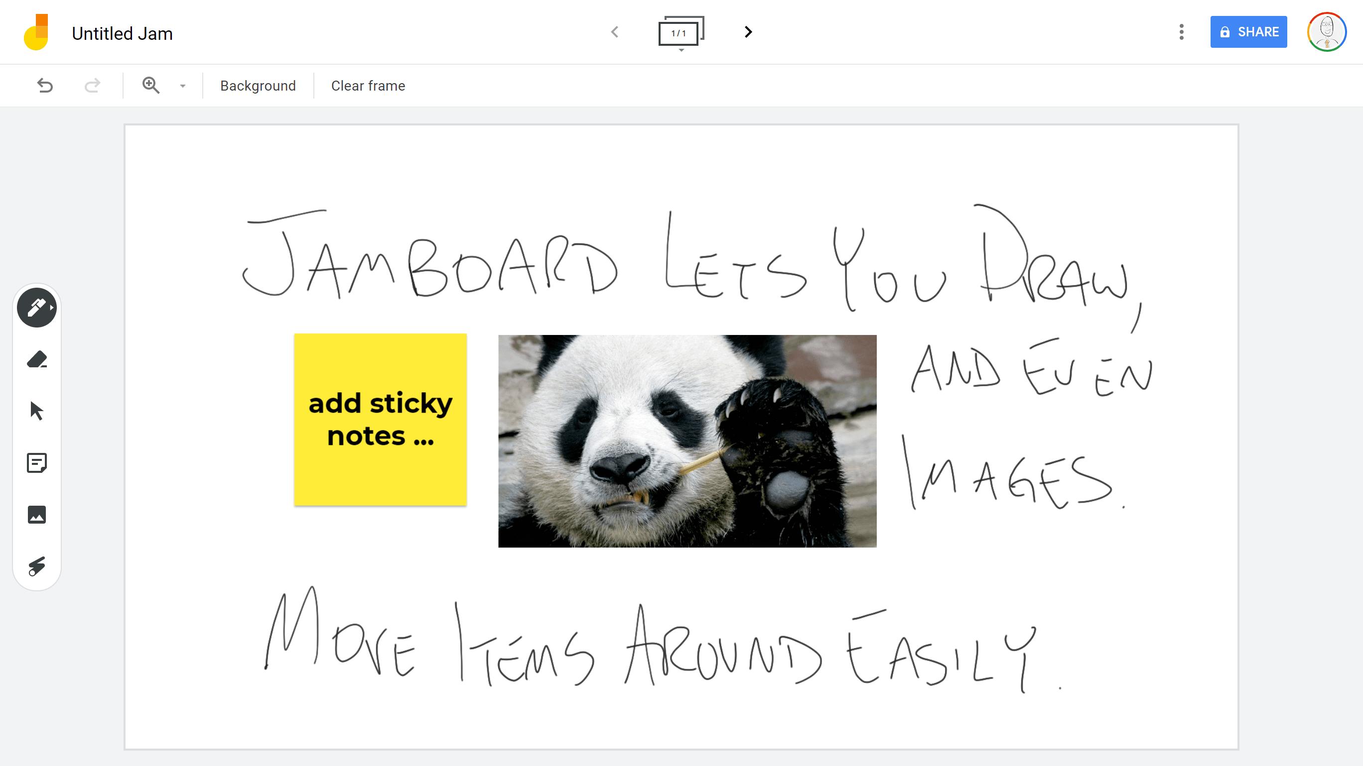 Jamboard example