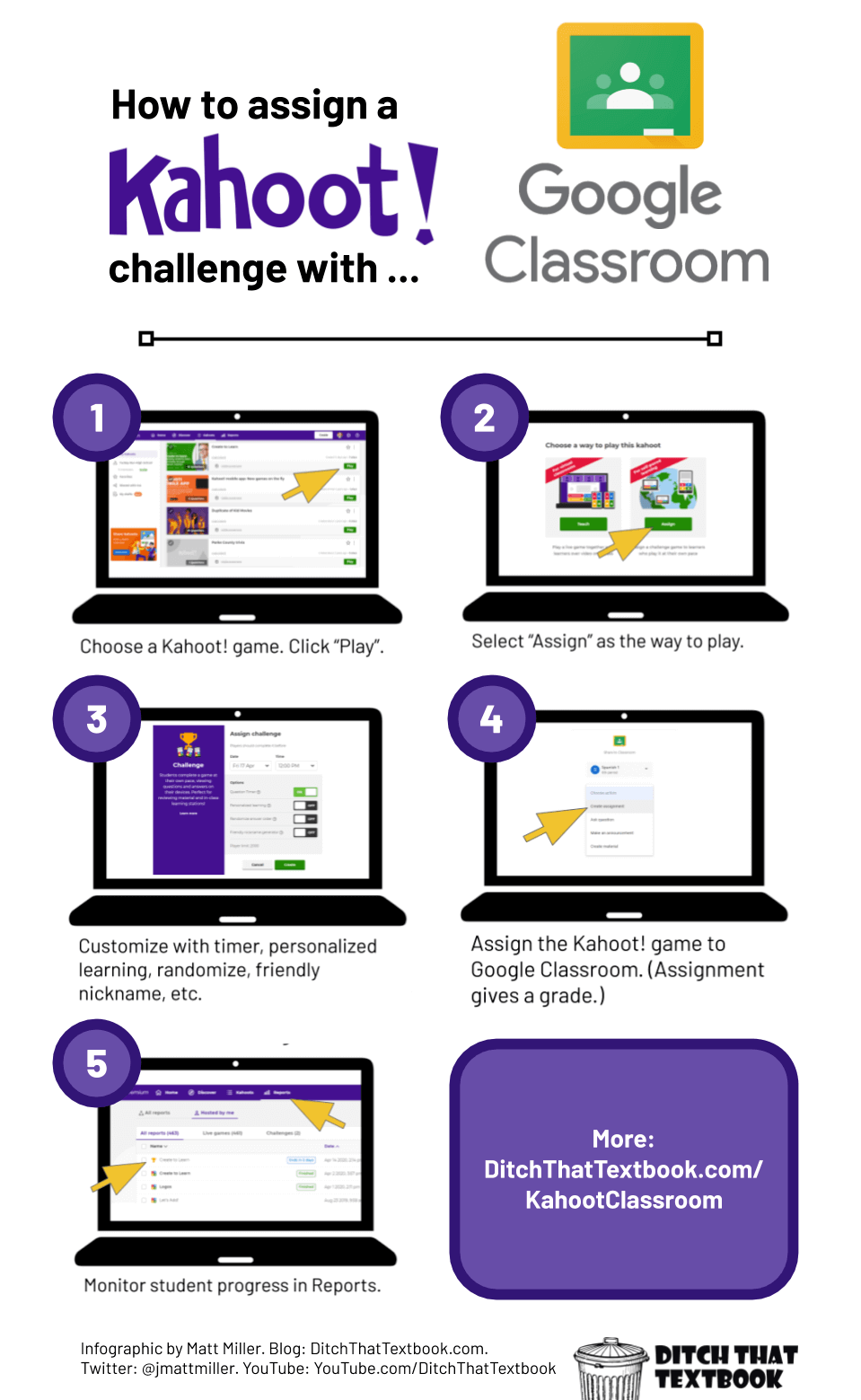 How to assign a Kahoot! Challenge with Google Classroom