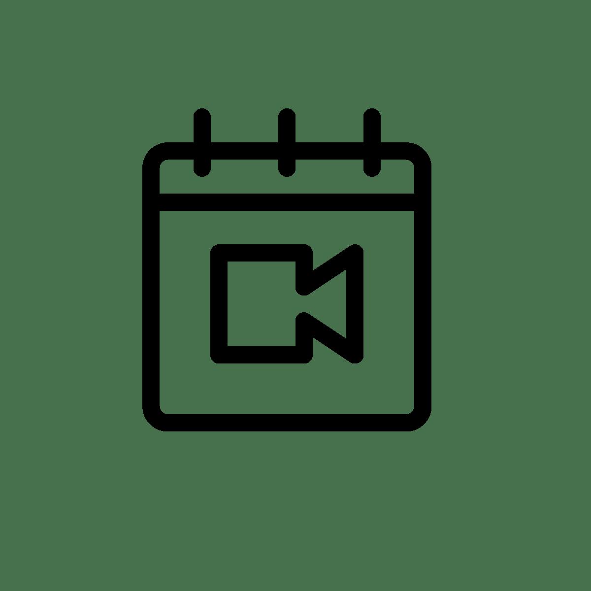 Video Meeting on a calendar
