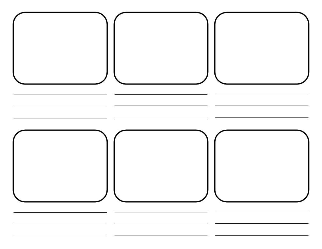 Instagram Storyboard template