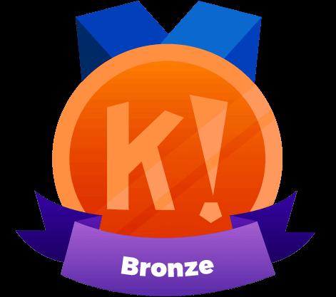kahoot certified bronze badge
