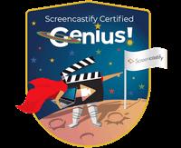 screencastify genius badge
