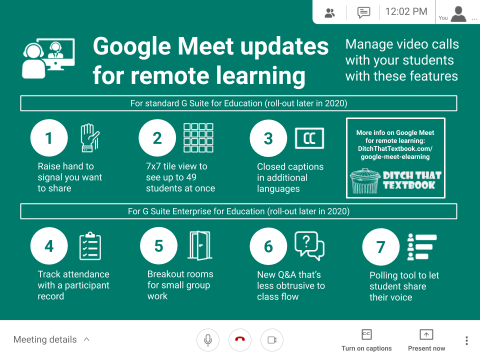 google meet updates for remote learning