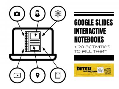 google slides interactive notebooks