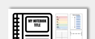 Interactive Notebook Template Image Icon