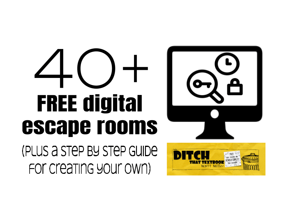 40+ digital escape rooms (plus a step by step guide for creating your own)