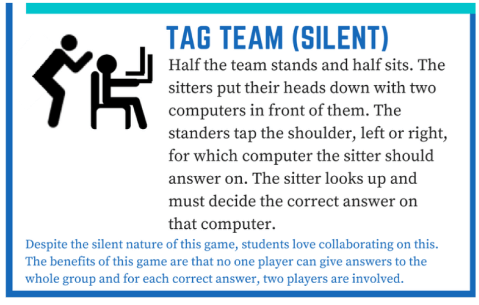 6 new ways to play quizlet live-Tag Team (silent)