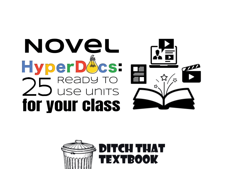 Novel HyperDocs: 25 Ready to Use Units for your class Icon