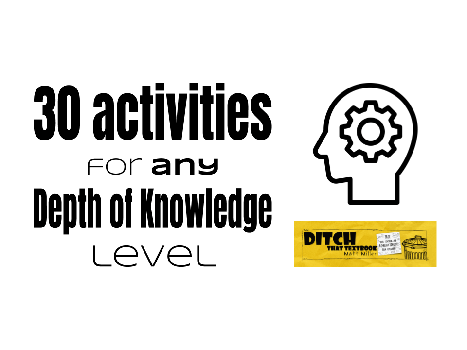 30 activities for ANY DOK level