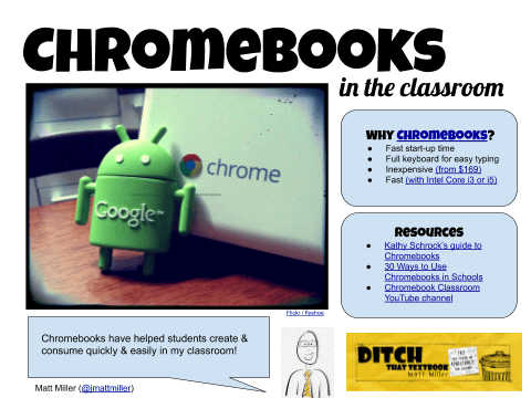 Chromebooks in the classroom (Ditch That Textbook)
