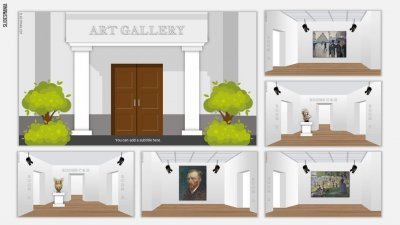 Art Gallery SlidesMania template