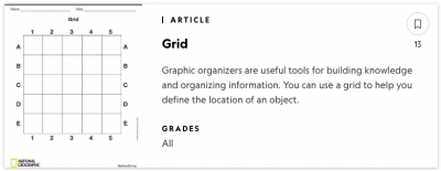 National Geographic Graphic Organizer Template